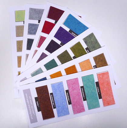 Heathered Felt Swatch Card Set :: 35 Colours