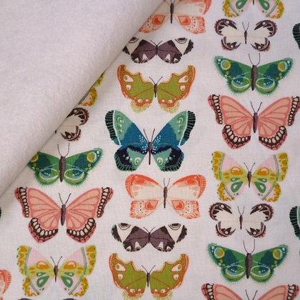 Fabric Felt :: Midsummer Meadow :: Butterflies on White
