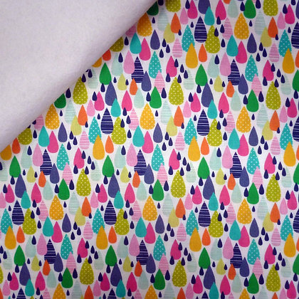 Fabric Felt :: Chasing Rainbows :: Drops of Colour on White