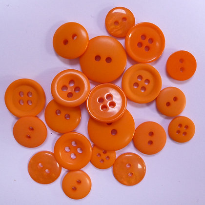 Dyed Pick & Mix Buttons :: Orange