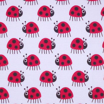 Fabric :: Copenhagen :: The Ladybugs (white)