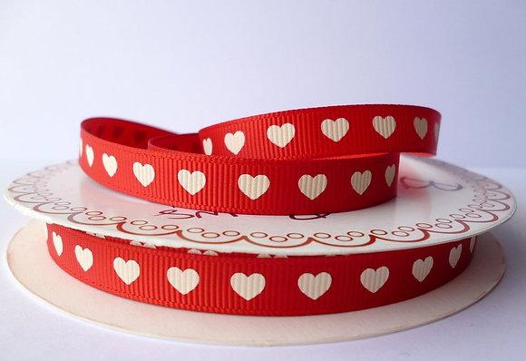 Love Ribbon :: Red + Natural Heart