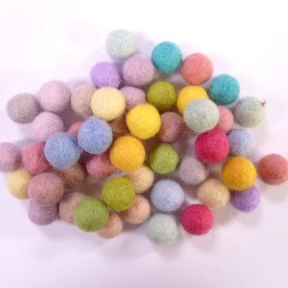 1.5cm Felt Ball Packs :: Spring Pastel (48x 1.5cm balls)