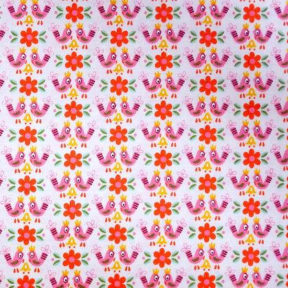 Fabric :: Vintage Kitchen :: Pink Birds