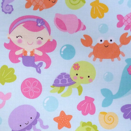 Fabric :: Under The Sea :: Mermaid Friends