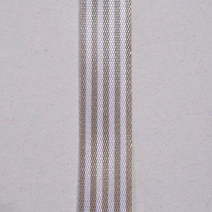 Pencil Stripe Ribbon :: Grey