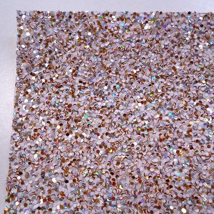 Medium Glitter sheet :: White Mix :: Gold Confetti