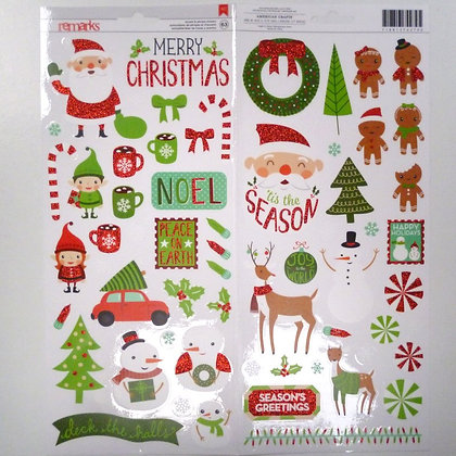 63 Christmas stickers