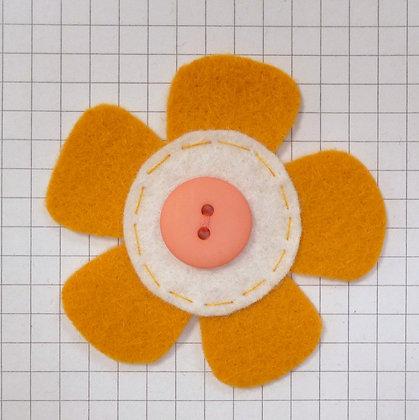 Mustard :: Med Flower :: Handmade Embellishment