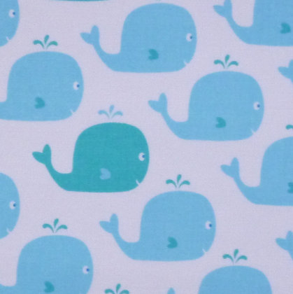 Fabric :: Count With Me :: Whales