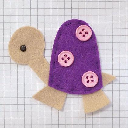 Plum :: Tortoise :: Handmade Embellishment