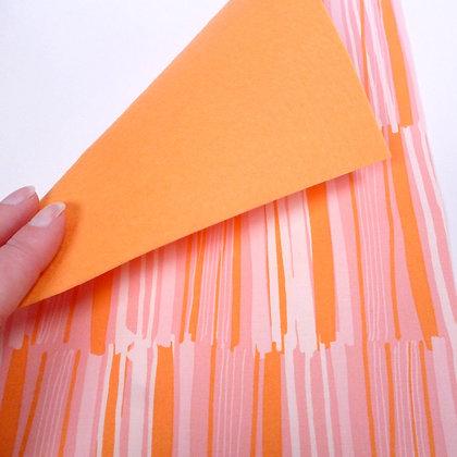 Fabric Felt :: Coral Brushstrokes & Peach