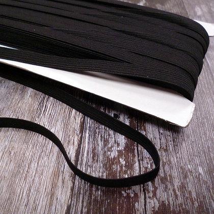 Boilproof Flat Elastic (9mm) BLACK