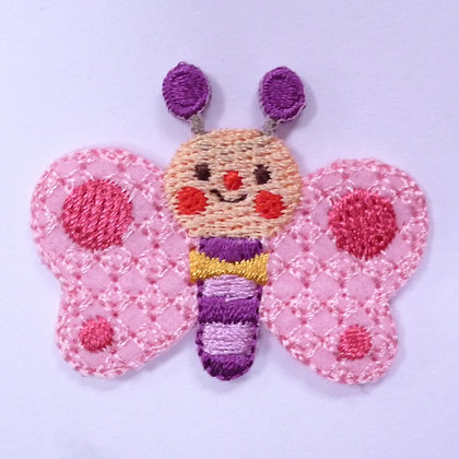 Embroidered Motif :: Bowtie Butterfly Pink