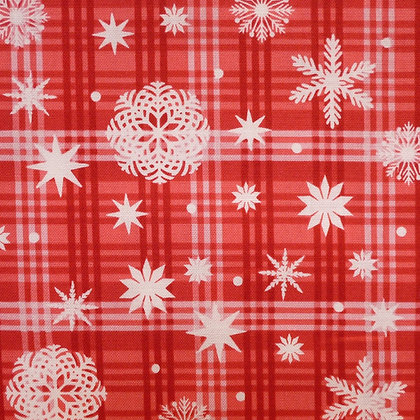 Fabric :: Nordic Forest :: Gingham Snowflakes