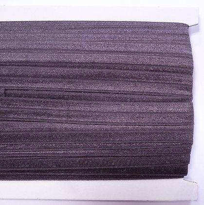 Satin Sheen Fold Over Elastic :: Charcoal