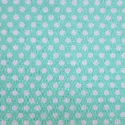 Fabric :: Kiss Dot :: Seafoam