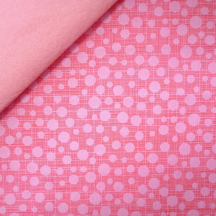 Fabric Felt :: Hash Tag Dot Pink on Baby Pink