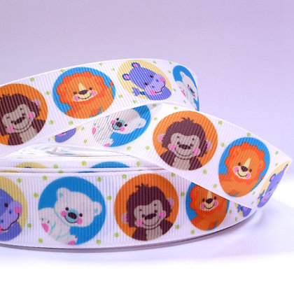 Cute Grosgrain Ribbon :: Safari Circles