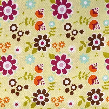 Fabric :: Matroyshka :: Green Flower