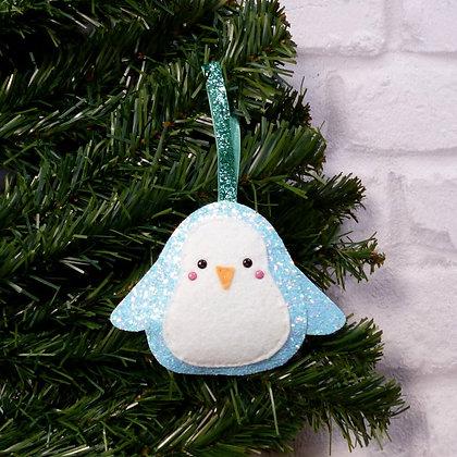 Glittery Penguin (Icy Pastel) Christmas Decoration Kit