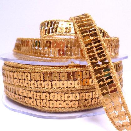 Square Sequin Trim :: Gold