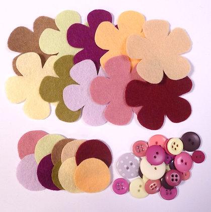 Felt Flower Kit :: Muted II