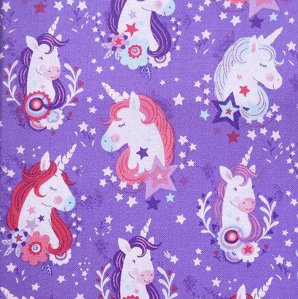Fabric :: Unicorn Kisses :: Purple Unicorn