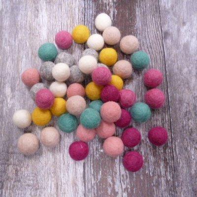 2cm Felt Ball Packs :: Floral Mix (48x 2cm balls)