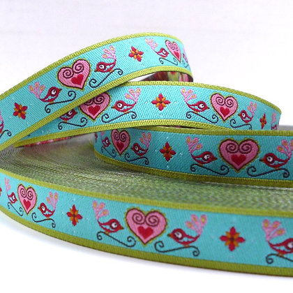 Embroidered Ribbon :: Hearts & Birds