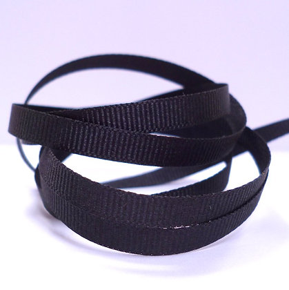 6mm Grosgrain Ribbon :: Black (9725)