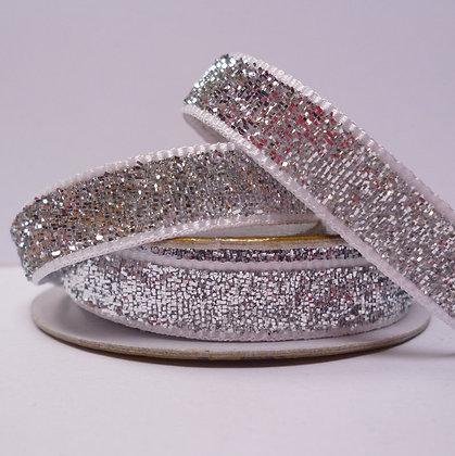 Glitter Velvet Spool :: Silver