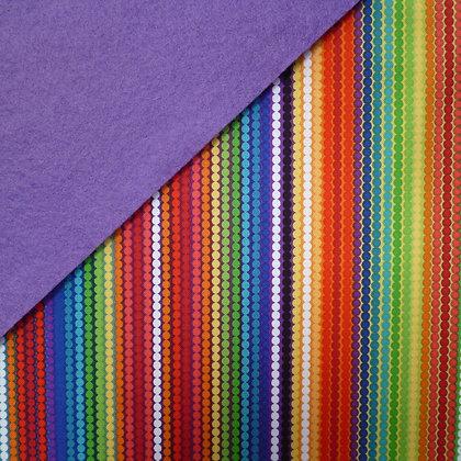 Fabric Felt :: Rainbow Stomp on Purple LAST FEW