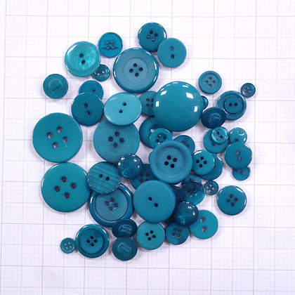 Dyed Buttons By Weight :: Teal