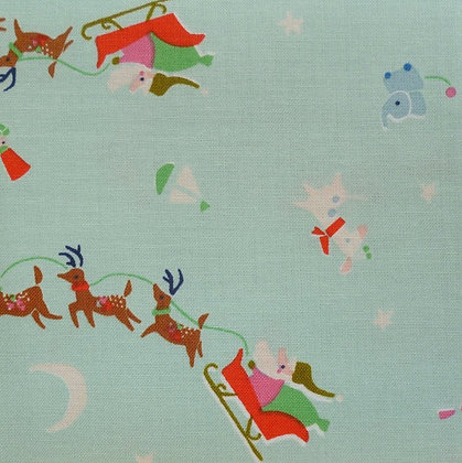 Fabric :: Way Up North :: Santa's Sleigh :: Mint