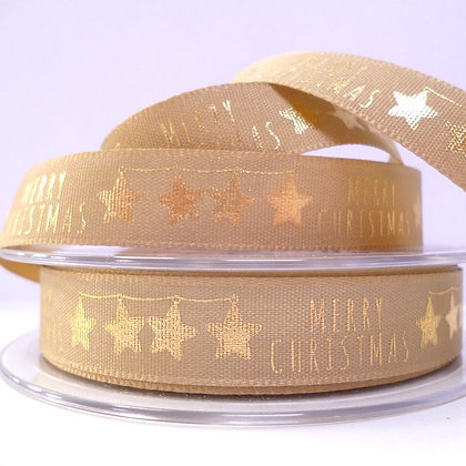 Foiled Merry Christmas Ribbon :: Gold