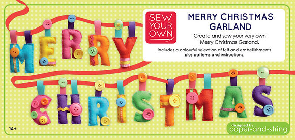 Merry Christmas Garland Large Kit