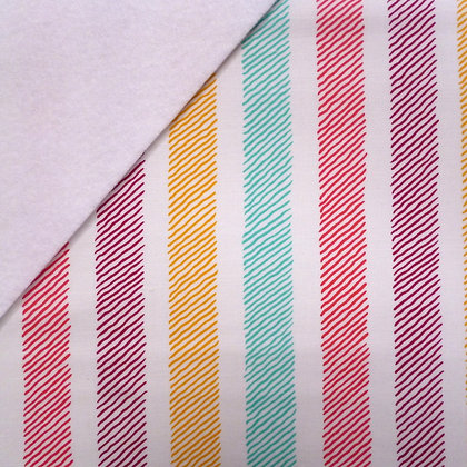 Fabric Felt :: Sketchy Stripe on White