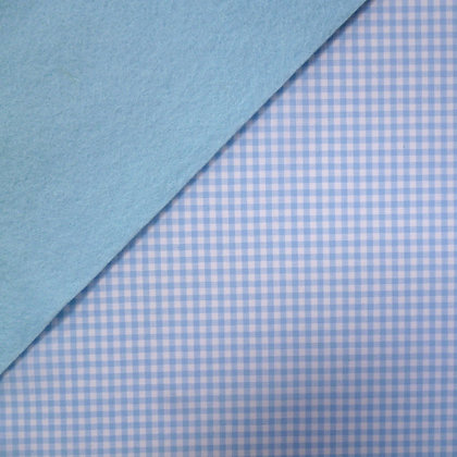 Fabric Felt :: Wide Pale Blue Gingham on Ice Blue
