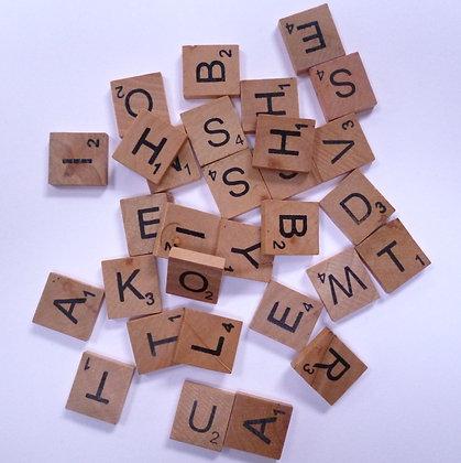 SALE Wood Alphabet Tiles