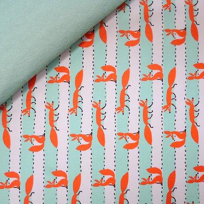 Fabric Felt :: Climbing Foxy on Pale Mint