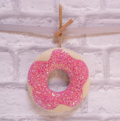 Handmade :: Doughnut :: Raspberry Sorbet Glitter