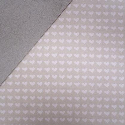 Fabric Felt :: Pale Grey Hearts on Silver Grey