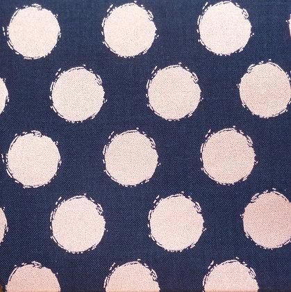 Fabric :: Blush :: Navy & Rose Gold Dot