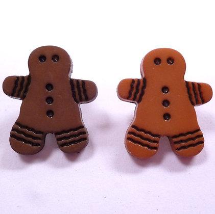 Single Gingerbread Man Button