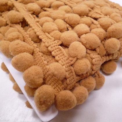 Large Pom Pom Trim :: Golden  Mustard