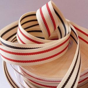 Natural Ribbon :: Tea Towel Stripe