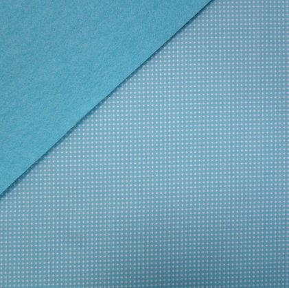 Fabric Felt :: Ooh La La Dot on Turquoise