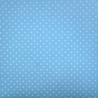 Bigger Polka Dots Felt Square :: PALE BLUE