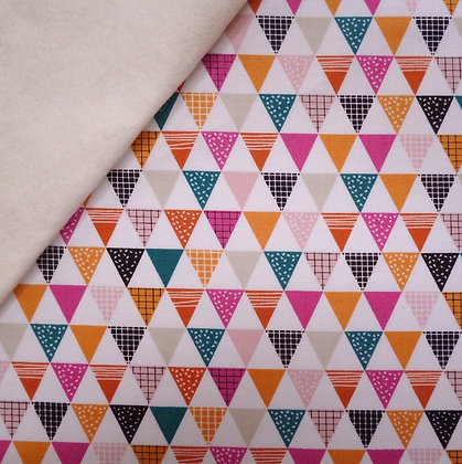 Fabric Felt :: Geo Forest :: Triangles on Natural